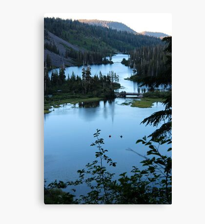Twin Lakes Mammoth California from Twin Falls Canvas Print