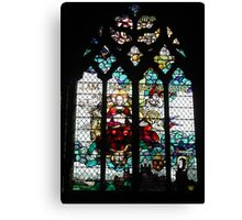 Stained Glass Window in Chester Cathedral Canvas Print