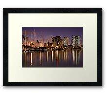 Ala Moana Harbor at Night  Framed Print