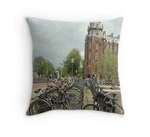 Bycycle City Throw Pillow