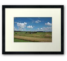 Typical Dutch Polder Landscape Framed Print