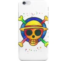 """""""Spirit of a pirate"""". Jolly Roger Emblem from the Anime/Manga """"One Piece"""". iPhone Case/Skin"""