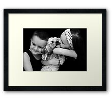 The Furry Sibling Framed Print