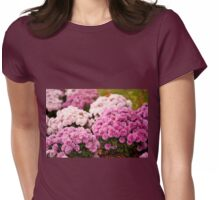 Chrysanthemum blooming flowers Womens Fitted T-Shirt