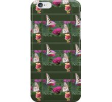 Butterflies and Zinnias iPhone Case/Skin
