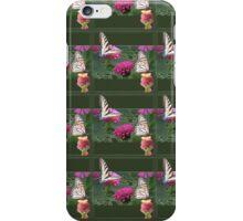 Butterflies and Zinnias iPhone Case/Skin