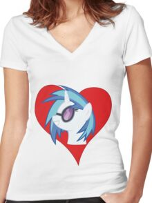 I have a crush on... DJ Pon3 Women's Fitted V-Neck T-Shirt