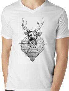 triangle deer Mens V-Neck T-Shirt