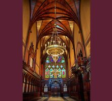USA. Massachusetts. Cambridge. Harvard University. Memorial Hall. Interior. Unisex T-Shirt