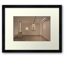 Light in modern  interior Framed Print