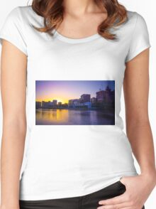 Backlit Along the Yarra - Melbourne, Victoria Women's Fitted Scoop T-Shirt
