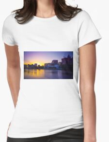 Backlit Along the Yarra - Melbourne, Victoria Womens Fitted T-Shirt