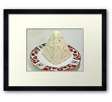 Easter curd on a beautiful plate Framed Print