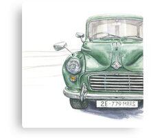 Retro car Morris Canvas Print