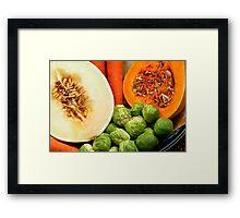 Close Up Study - Fruit And Vegetables Framed Print