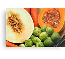 Close Up Study - Fruit And Vegetables Metal Print