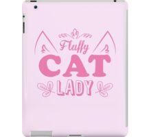 Fluffy cat lady (long hair kitty cute!) iPad Case/Skin