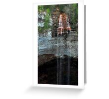 Far Away Some Water Fell Greeting Card