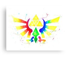 """Royal Crest Symbol"" from the videogame the Legend of Zelda by Nintendo. Canvas Print"