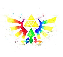 """Royal Crest Symbol"" from the videogame the Legend of Zelda by Nintendo. Photographic Print"