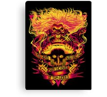 death ungry rider Canvas Print