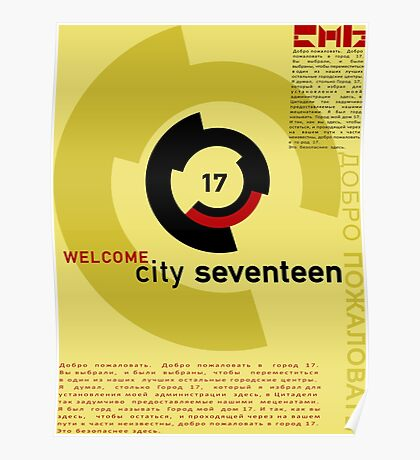 Welcome to City 17 Poster