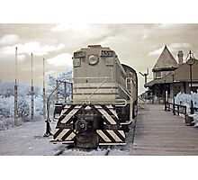 Old Engine at the Station - Smiths Falls Train Museum, Ontario Photographic Print