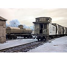 The Caboose - Smith's Falls Railway Museum, Ontario Photographic Print