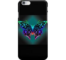 Pretty Rainbow Coloured Butterfly iPhone Case/Skin