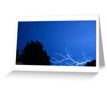 Blue Lightning Greeting Card