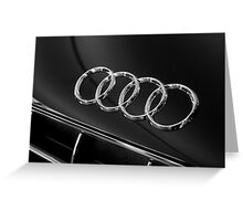 Audi Emblem Greeting Card