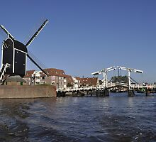 Leiden - Windmill De Put and the Rembrandtbridge by Frits Klijn (klijnfoto.nl)
