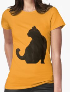 Halloween Black Cat Silhouette T-Shirt