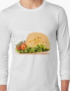 cherry tomatoes and yellow cheese Long Sleeve T-Shirt