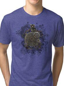 The Steampunk Owl Tri-blend T-Shirt