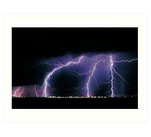 Three Lightning Strikes Art Print