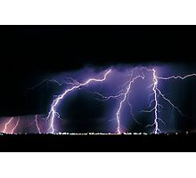 Three Lightning Strikes Photographic Print