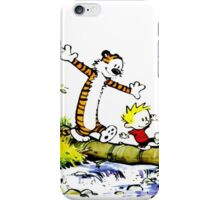 calvin and hobbes in jungle iPhone Case/Skin