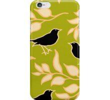 Ode to a Blackbird (Light Green) iPhone Case/Skin