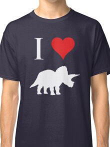 I Love Dinosaurs - Triceratops (white design) Classic T-Shirt