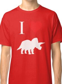 I Love Dinosaurs - Triceratops (white design) Classic T-Shirt