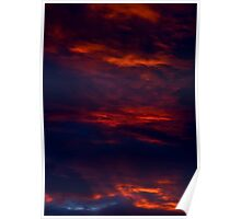 Dark And Dramatic. A Summer Sunset. Poster