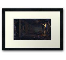 A dwarven mine Framed Print