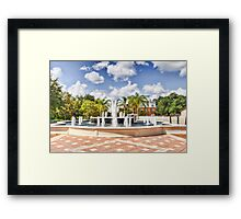 Fountain HDR Framed Print