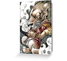 Goblin Grimm Greeting Card