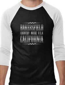 Silver Bakersfield Country Men's Baseball ¾ T-Shirt