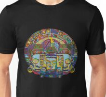 Mayan Wheel with Mask of Death and Rebirth 2011 as tshirt Unisex T-Shirt