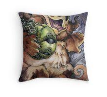 Goblin Grub Throw Pillow