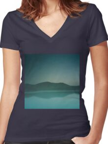 Lakeside Drive Women's Fitted V-Neck T-Shirt