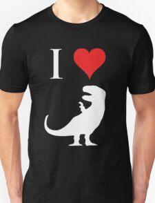 I Love Dinosaurs - T-Rex (white design) Unisex T-Shirt